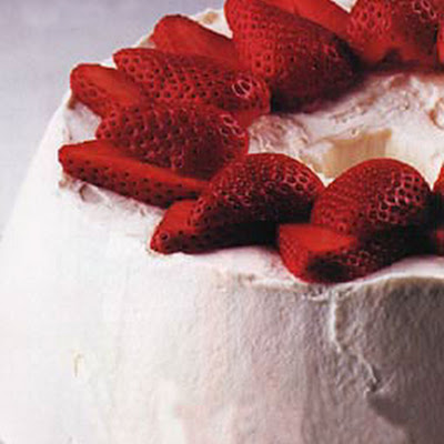 Pecan Torte with Strawberries and Cream