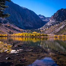 Parker Lake by Mark Cote - Landscapes Waterscapes ( june lake loop, fall colors, parker trail, parker lake, sierra nevada mountains,  )