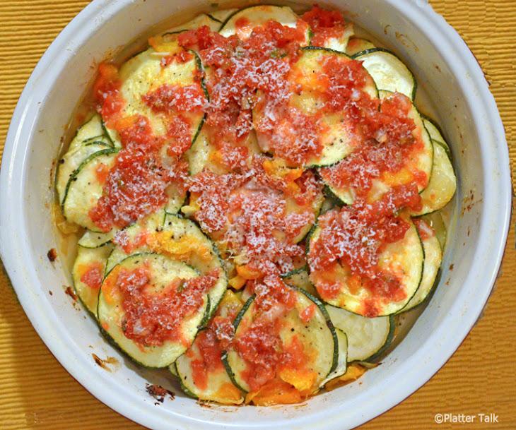 Zucchini and Salsa Parmesan Bake Recept | Yummly