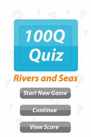 Rivers and Seas - 100Q Quiz