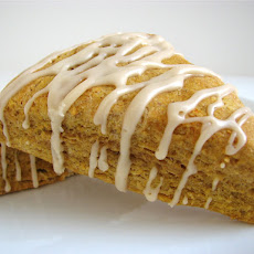 Pumpkin Spice Scones with Maple Glaze