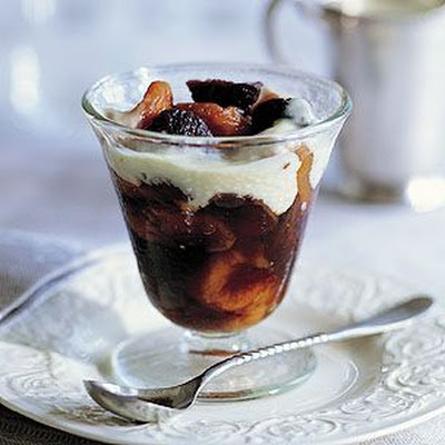 Dried-Fruit Compote with Bourbon and Crème Anglaise
