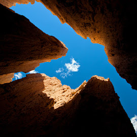 Cathedral Gorge by Richard Duerksen - Landscapes Caves & Formations ( sky, nevada, mud formations, cathedral gorge, dove,  )