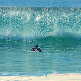 Waiting For the Wave by Jeannine Jones - Sports & Fitness Surfing