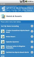 Screenshot of Myrtle Beach Hotels