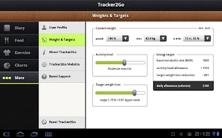 Screenshot of Diet Tracker 2 Go