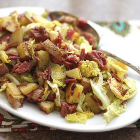 Corned Beef, Cabbage and Red Potato Hash