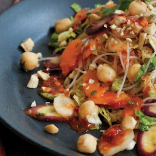 Vietnamese Noodle Salad with Chickpeas and Rainbow Carrots