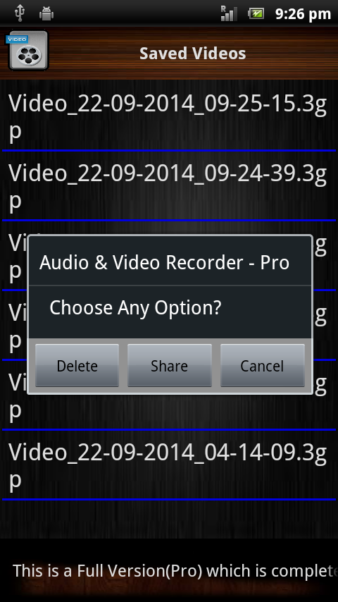 Audio and Video Recorder Pro Screenshot 5