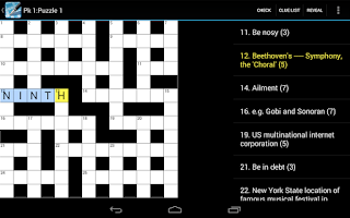 Screenshot of Crossword Lite