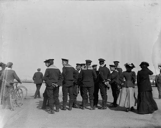Sailors (possibly Russian) at Kingstown