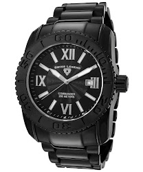 Swiss Legend Men's Commander Black Dial Black Ion Plated Stainless Steel SL-10059-BB-11 Watch
