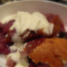 Apple and Blueberry Pudding Cake