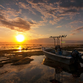 Boat Form Lakey Beach by Erwan Setyawan - Landscapes Beaches ( sunset, lakey, beach )