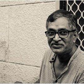 Potrait by Rahul Nair - People Portraits of Men ( potrait, south asia, black and white, india, man,  )