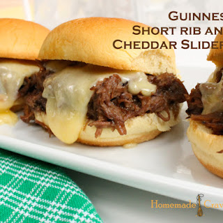 Slow Cooker Guinness Short Rib and Cheddar Sliders
