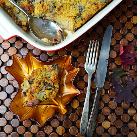 Apple-Chestnut Cornbread Stuffing