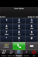 Screenshot of VoVo Dialer
