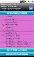 Screenshot of My Cartridge Checklist