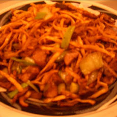 Shanghai Fried Noodles With Pork or Chicken