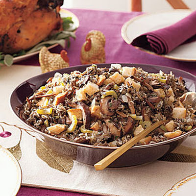 Slow-Cooker Wild Rice and Mushroom Stuffing