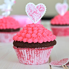 Chocolate Cupcakes with Pink Vanilla Icing