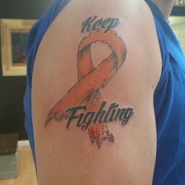 ms by Ashley Smith - People Body Art/Tattoos ( #ms#tat#orangeribbon#cancer )