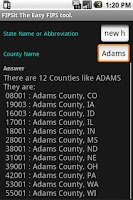 Screenshot of FIPSit The easy FIPS tool.