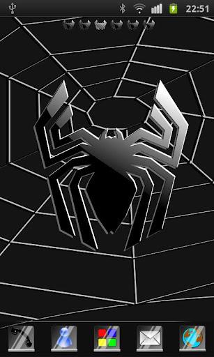 Black Spider Theme GO Launcher