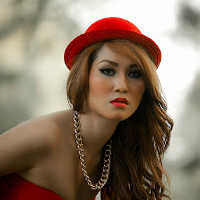 Lady in Red by Mc Pujiyanta - People Portraits of Women (  )