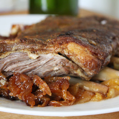 Braised Lamb Ribs with Apricots and Onions