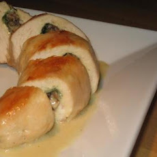 Chicken Breasts Stuffed With Mushrooms & Spinach With Cognac Sauce