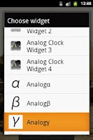Screenshot of Analog Clock γ