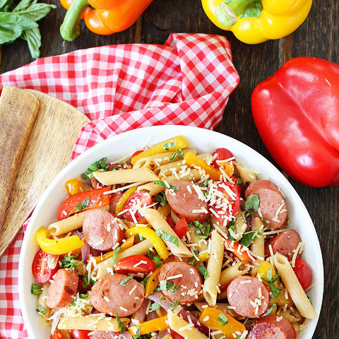 Spicy Sausage and Pepper Pasta