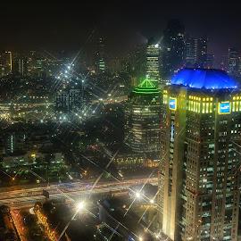 slk #s8 by Tt Sherman - City,  Street & Park  Skylines ( lights, skyline, night photography, jakarta, nightscape )