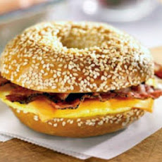 Bacon Bagel Cheese Sandwich