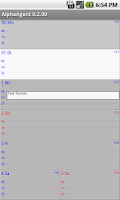Screenshot of AlphaAgent Calendar Free