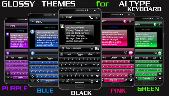 THEME FOR AI TYPE BLACK PURPLE - screenshot