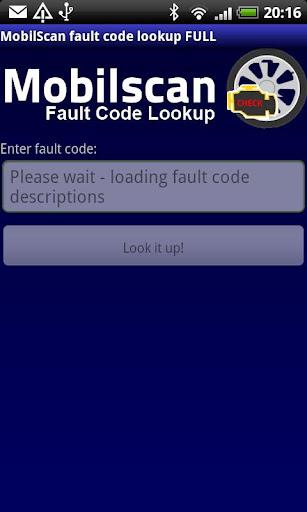 MobilScan DTC lookup