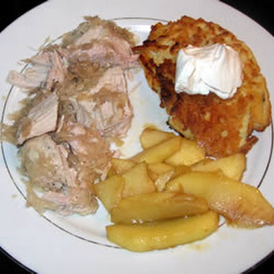 Sauerkraut-Stuffed Slow-Cooked Pork Roast