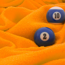 Blue on orange by Bas Smit - Sports & Fitness Other Sports ( orange, ball, blue, pool, orange. color )