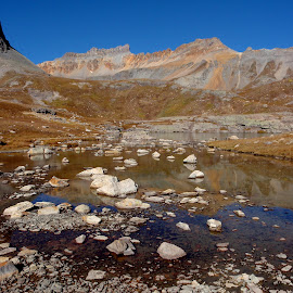 Ice Lake Basin by Hunter Ten Broeck - Landscapes Mountains & Hills ( reflection, mountains, colorado, lake, silverton, ice lake basin )