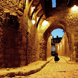 Night Walk in the Old Town by Rumiana Doncheva - City,  Street & Park  Historic Districts ( plovdiv, castle, night, walk, old_town )