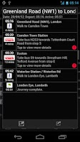 Screenshot of London Transport Live