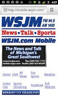 Screenshot of WSJM