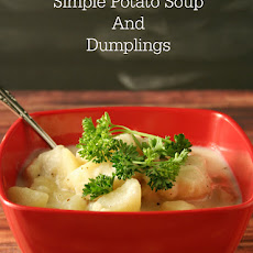 Simple Potato Soup and Dumplings