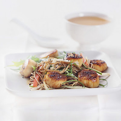 Soy Citrus Marinated Scallops