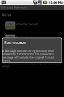 Screenshot of Message Forwarder