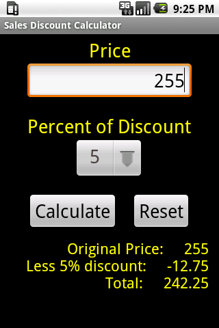 Price Discount Calculator