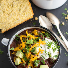 Big Time Jalapeno Lime Black Bean Texas Chili.